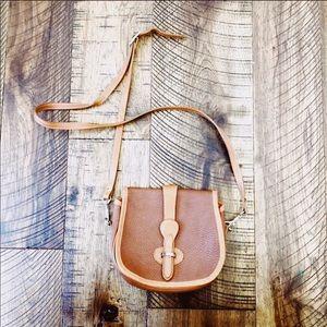 Handbags - VINTAGE Leather Satchel Saddle Bag Crossbody